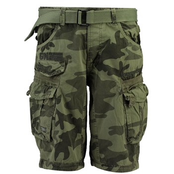 Geographical Norway - Panoramique new camo - Short cargo - gris clair