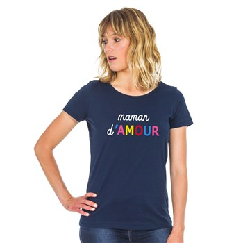 We are family - Maman d'amour - T-shirt manches courtes - bleu marine