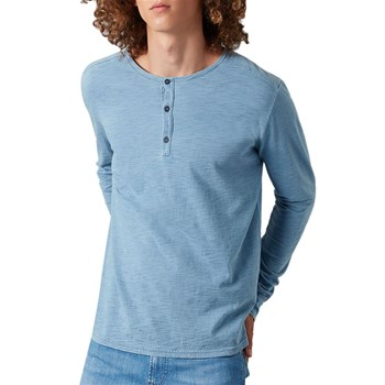 7 For All Mankind - Henley - T-shirt manches longues - bleu