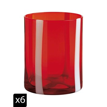 Onlylux - Nelson - Lot de 6 verres à eau - orange