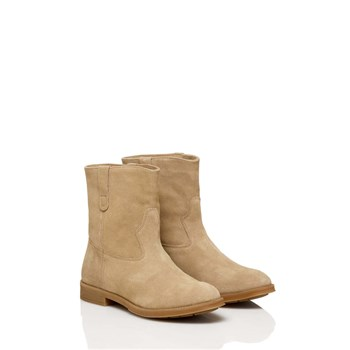 Benetton - Bottines en cuir - beige