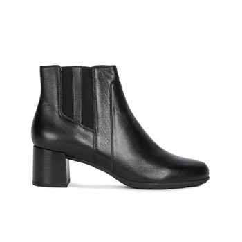 Geox - D New Annya Mid - Bottines en cuir - noir