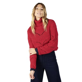 Oxbow - Pally - Pull col roulé en laine - rouge