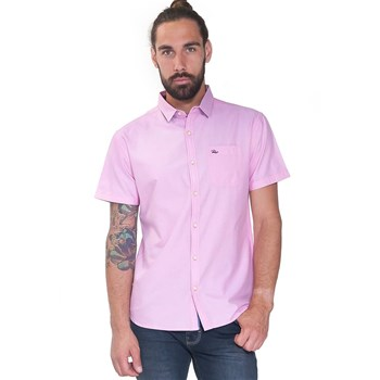 French Denim - Chemise manches courtes oxford - rose