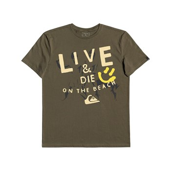 Quiksilver - Illusion Of Order - T-shirt manches courtes - kaki