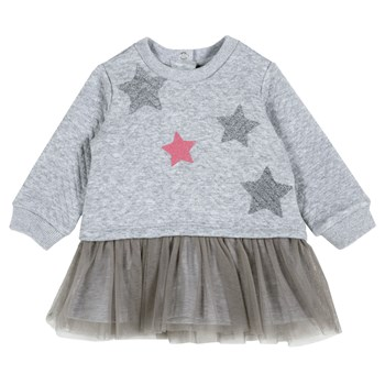 Chicco - Robe pull - gris clair