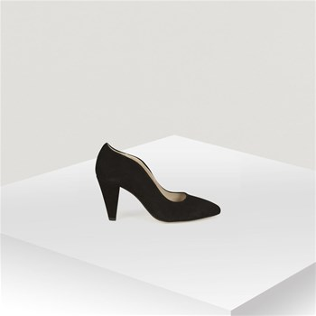 Naf Naf - Escarpin fantaisie vague en cuir - noir