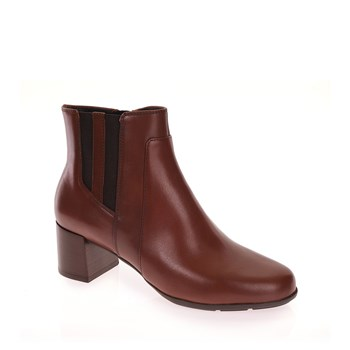 Geox - D New Annya Mid - Bottines en cuir - brun