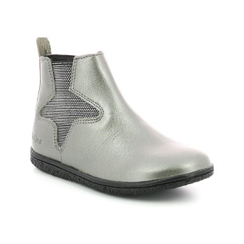 Kickers - Vermillon - Bottines en cuir - gris