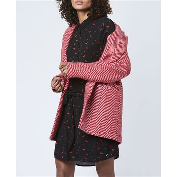 LPB Woman - Manteau chevron - rouge