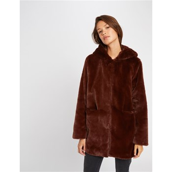Morgan - Manteau en fausse fourrure - marron
