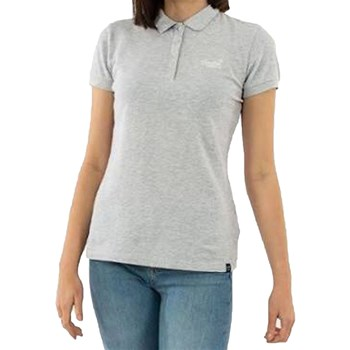 Superdry - Polo manches courtes - gris chiné