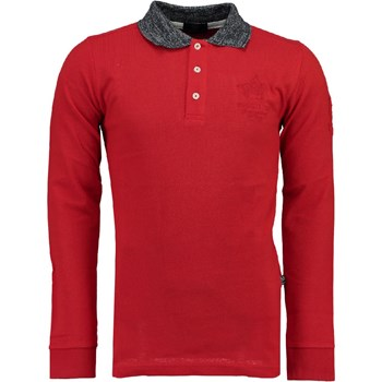 Geographical Norway - Kniker - Polo manches longues - rouge