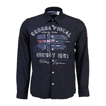Geographical Norway - Zolduc - Chemise manches longues - bleu marine