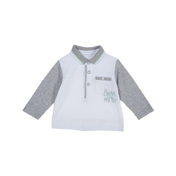Chicco - Polo manches longues - blanc