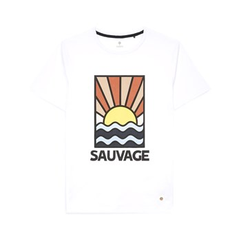Faguo - Arcy - T-shirt manches courtes - blanc