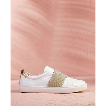COSMOPARIS - Honny - Baskets basses en cuir - blanc
