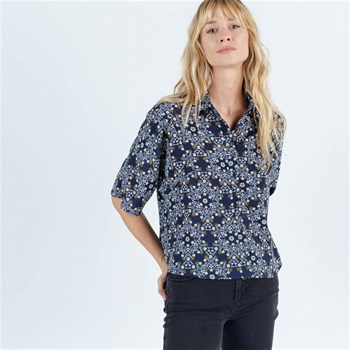 Sinéquanone - Feuilly - Chemise manches courtes - bleu marine
