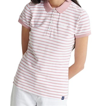 Superdry - Polo manches courtes - rose
