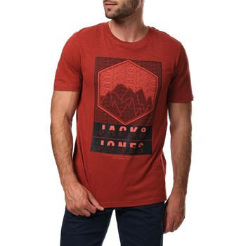 Jack & Jones - Gibs-spring - T-shirt manches courtes - rouge