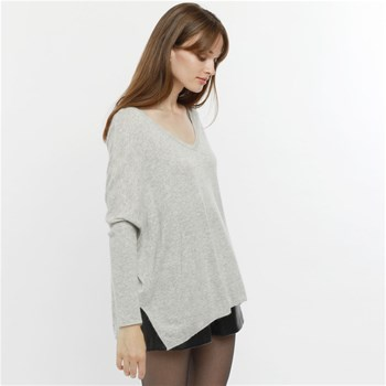 Artlove - Gaby - Pull large col V - gris