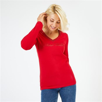 Black Wellis - Classic couture - T-shirt manches longues - rouge