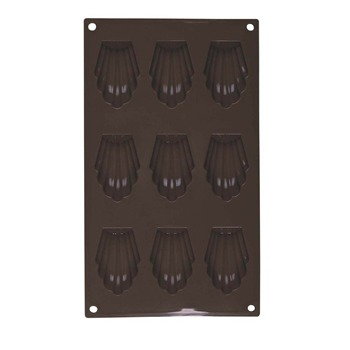 Guy Degrenne - Newcook Delys - Moule pour 9 madeleines en silicone - marron - 396525