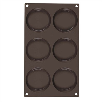 Guy Degrenne - Newcook Delys - Moule pour 6 tartellettes en silicone - marron - 396529