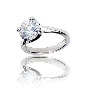 Bague à dames - Le Solitaire - Ring - silberfarben