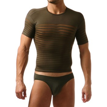 L Homme Invisible - T-shirt moulant - kaki