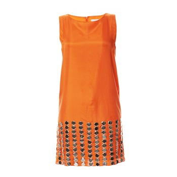 Charabia - Robe en soie orange - 662020