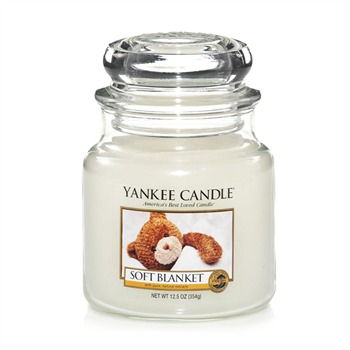 Yankee Candle - Couverture Douce - Moyenne Jarre - blanc