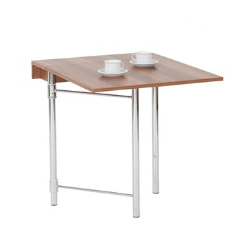 Sumatra table pliante murale noyer fonc hoffmann for Table murale rabattable avec pied