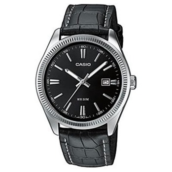 Casio Collection - Montre en cuir - noir