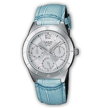 Casio Collection - Montre bracelet cuir bleu