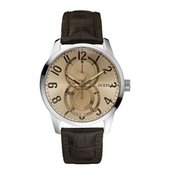 Montre bracelet cuir marron