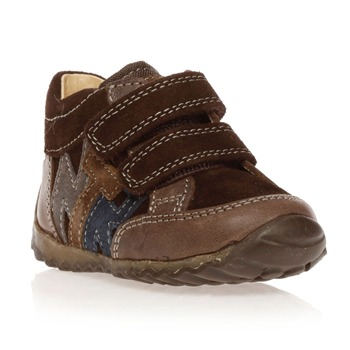Sneakers - in pelle scamosciata marrone scuro
