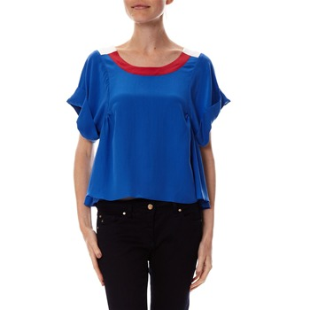 Dress Gallery - Blouse en soie bleue