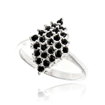 Bague à dames - La Flashing Noire - Ring - schwarz