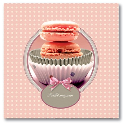 ARTMOSPHERE Macarons-©Patrick Durand - Tableau sur toile - rose