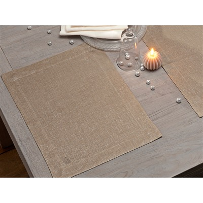 Blanc Cerise lot de 2 sets de table - sable