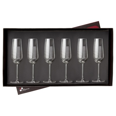 GUY DEGRENNE Galatee - Coffret 6 flutes à champagne - transparent