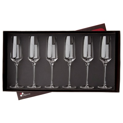 GUY DEGRENNE Muse - Coffret 6 flutes à champagne - transparent