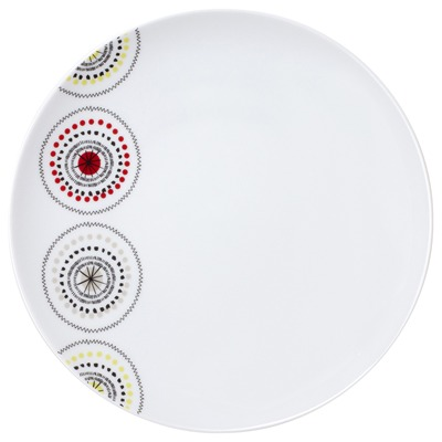 GUY DEGRENNE Modulo Kiwi - Lot de 3 assiettes plates ronde