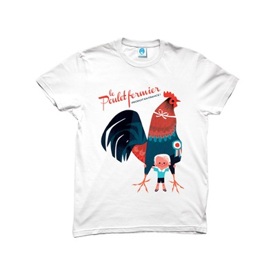 MONSIEUR POULET Made - T-shirt - in France blanc
