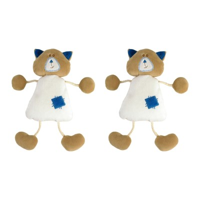Apollon Le Chaton - Lot de 2 doudous - blanc