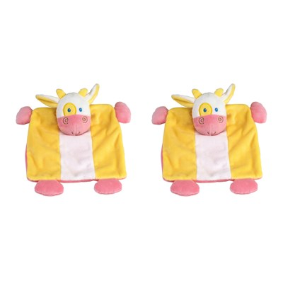Potache La Vache - Lot de 2 doudous - tricolore