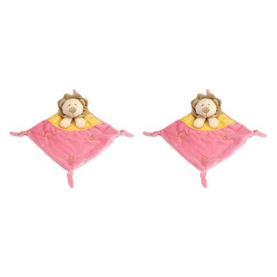 Napoleon Le Lion - Lot de 2 doudous - rose