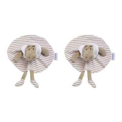 Bodoudou Potame - Lot de 2 doudous - rose