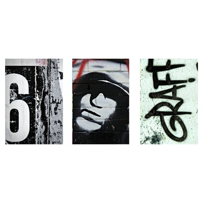 ARTMOSPHERE Grey Graffiti - Tableu sur toile